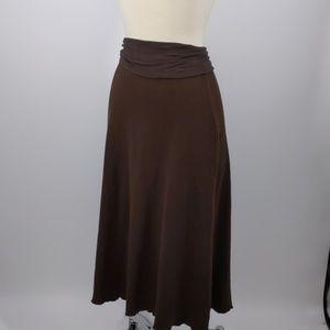 Kial brown waffle knit skirt-sz M
